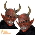 Devil Mask Red Latex Evil Demon Lord Halloween Fancy Dress Costume