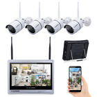 Wired-Wireless 4CH 1080P NVR Outdoor 720P WiFI IR-CUT Camera Security System US