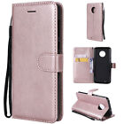 For Motorola Moto G4 G5 G6 Luxury Magnetic Soft Leather Wallet Card Case Cover