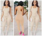 Women's Summer Sleeveless Bodycon Slim Fit Jumpsuit Clubwear Bodysuit Long Pants