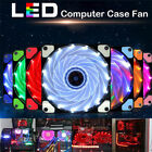 DIY 12V 120x120mm Neon Clear PC Computer Case Cooling Fan Mod With LED Lights