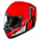 """ICON ALLIANCE """"OVERLORD"""" HELMET MOTORCYCLE LID ANTI-FOG - RED - PICK SIZE - SALE"""
