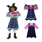 Kids Vampirina Costume Dress Wing Headwear Cosplay Girls Party Fancy Dress 3-10Y