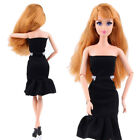 Beauty Black Fashion Handmade Princess Dress Clothes Gown For Barbie Doll US