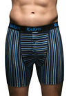 """Kickers - 2 Pairs Mens Striped Cotton Underwear Boxer Shorts - Small 30-32"""" Hip"""
