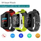 "1.54""3G Android Wear Witty Wrist Watch Bluetooth WIFI GPS SIM GSM For Samsung LG"