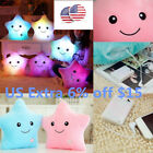 US STO Cute Girl Luminous Pillow Toy LED Light Plush Star Kid Birthday Christmas