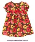 Gymboree NWT 2-pc Brown ADORABLE OWL FLORAL RUFFLE BOW BLOOMER DRESS 0 3 6 Month