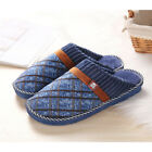 Mens Slippers Cotton Winter House Indoor Slippers  Anti-Slip Home Winter Warm