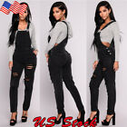 USA Women Denim Jeans BIB Pants Overalls Straps Jumpsuit Rom