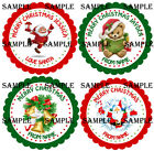 Personalised Christmas Stickers for Gifts / Sweet cones / party bags etc - 06-01