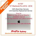 """Apple Macbook Pro 15"""" Retina A1707 Complete Lcd Screen Assembly Grey Silver"""