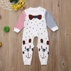 Newborn Baby Boy Girls Cute Dog Romper Jumpsuit Cotton Playsuit Outfits Clothes