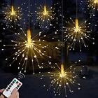 120 Led Firework Lights String Fairy Lights Wedding Xmas Party Outdoor Decor