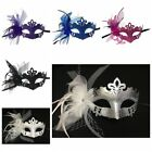 Lady Costume Mask Feather Masquerade Mask Halloween Mardi Gras Cosplay Party