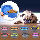 Collapsible Portable Travel Dog Cat Pet Bowl Silicone Food Water Small Puppy NEW