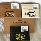 Coach #F87106 Keith Haring Slim Card Case -  Boombox  - Caramel Color - NWT $95