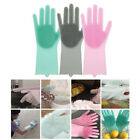 1Pair Magic Silicone Cleaning Brush Scrubber Gloves Heat Resistant Scrub Gloves