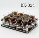 12 Shot Glasses Party Set With Acrylic liquor Holder For Teq