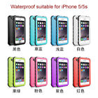 Defender Shock Waterproof Screen Protector Cover Snow Dust Case For iPhone 5 5S