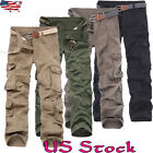 US Workwear Mens Cargo Combat Work Trousers With Knee Pad Pockets Causal Pants