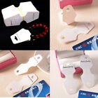 50Pcs Fold Over Necklace Bracelet Jewelry White Display Hanging Cards 30X70mm