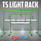 PLANT STAND RACK with 2' or 4' FLORO T5 GROW LIGHT GARDEN SEED JUMP START SYSTEM