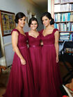 Long Evening Formal Party Dress Prom Ball Gown Bridesmaid Real Picture