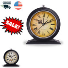 Alarm Clock Old Fashion Vintage Retro Shelf Desk Table Silent with Night Light