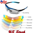 US Goggles Man Outdoor Sunglasses Women Riding Bicycle 5 Lenses Black Red Blue