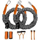 6Pcs New Resistance Bands Set Heavy Duty Exercise Fitness Tube Workout Bands image