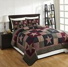 5pc PLUM CREEK Quilt Star Plaids Farmhouse Rustic Primitive Cotton Bedding Set  image