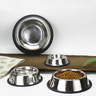 Non Slip Bowls Stainless Steel Feeding Food Water Dish Pets Dog/Cat High Quality