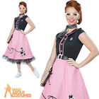 Womens 50s Sweetheart Costume Poodle Dress Ladies Nifty Fifties Fancy Dress