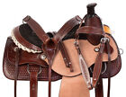 Team Roping Saddle Ranch Pleasure Trail Rough Out Leather Cowboy Horse Tack