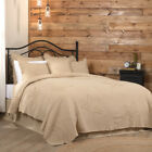 BURLAP VINTAGE STAR COVERLET Choose Size & Accessories - 100% Cotton VHC Brands image