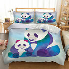 Kid Panda Duvet Cover Bedding Set Twin Full Queen King Pillow Case Cute Animal