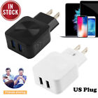 5V 2.1A Dual Ports USB Wall Charger Fast Charging Adapter US for iPhone Samsung