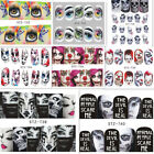 2Sheets Halloween Nail Art Water Decals Transfer Stickers  Decoration