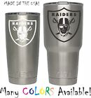 Oakland Raiders Football Decal for NFL YETI Tumbler 20 30 Ozark RTIC Sticker $2.47 USD on eBay