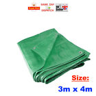 3x - 3m x 4m Heavy Duty Green Tarpaulin Waterproof Cover Ground Sheet FAST CHEAP