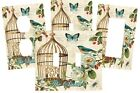PERSONALIZED TEAL BLUE BIRD CAGE BUTTERFLY ELEGANT SWITCH PLATE COVER HOME DECOR