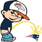 Denver Broncos Piss On New England Patriots NFL Color Vinyl Decal CHOOSE SIZES