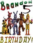 PERSONALIZED FIVE NIGHTS AT FREDDY S T SHIRT PARTY FAVOR FNAF BIRTHDAY GIFT