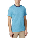 Club Room Gregory Clear Skies Turquoise Grey Striped Crew Neck Shirt