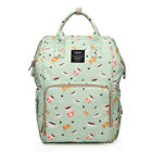 Fashion Mummy Bag Large Diaper Bag Outdoor Carry Backpack Rucksack  Nursing Pack