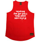 Cycling Vest Funny Mens Sports Performance Singlet - If You Can Read This Bicycl