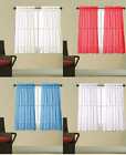 1PC KITCHEN VOILE SHEER CRUSHED RUFFLE WINDOW DRESSING CURTAIN PANEL VALANCE