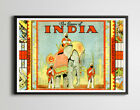 1930 Game of India Parcheesi Board Game POSTER up to 24 x 36 Vintage
