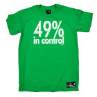 Skiing Snowboarding T-Shirt Funny Novelty Mens tee TShirt - 49 Percent In Contro